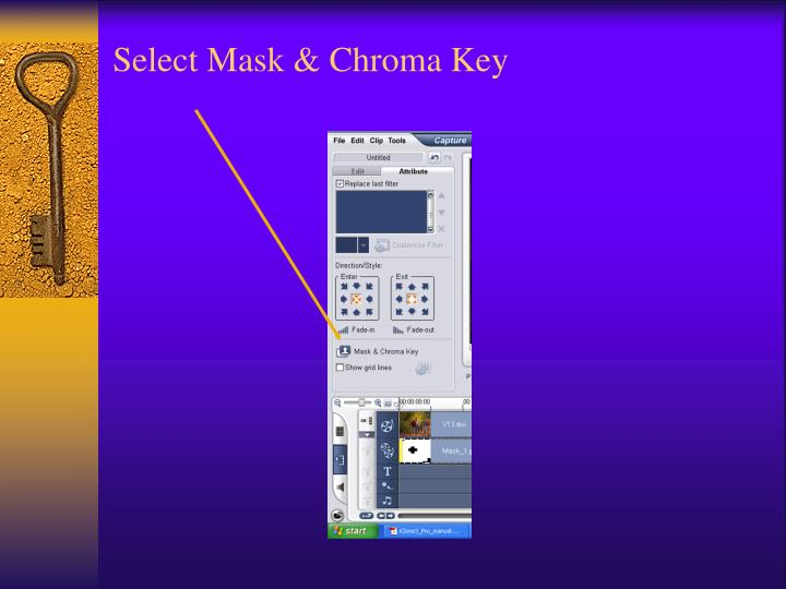 Select Mask & Chroma Key