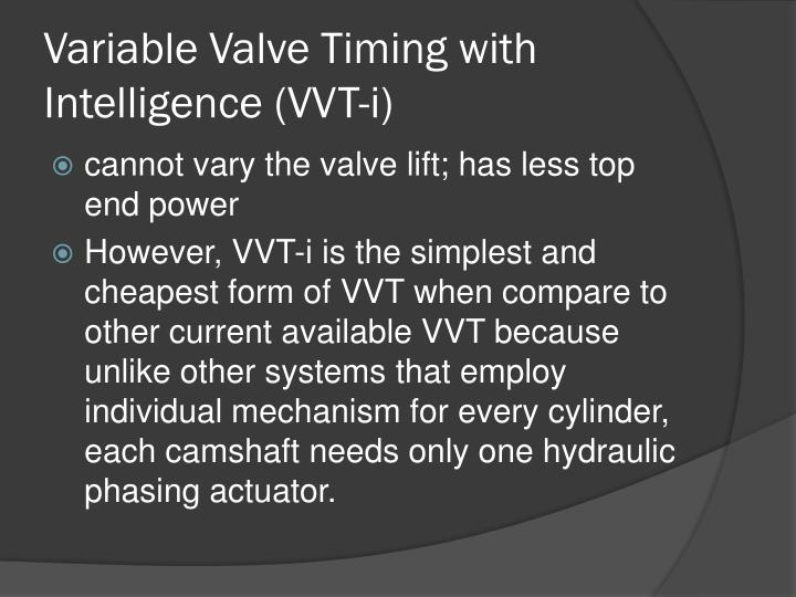 Variable Valve Timing with Intelligence
