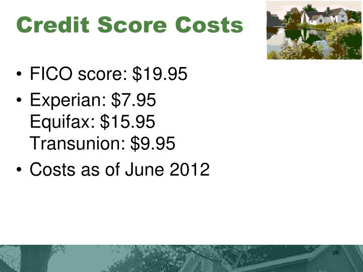 Credit Score Costs