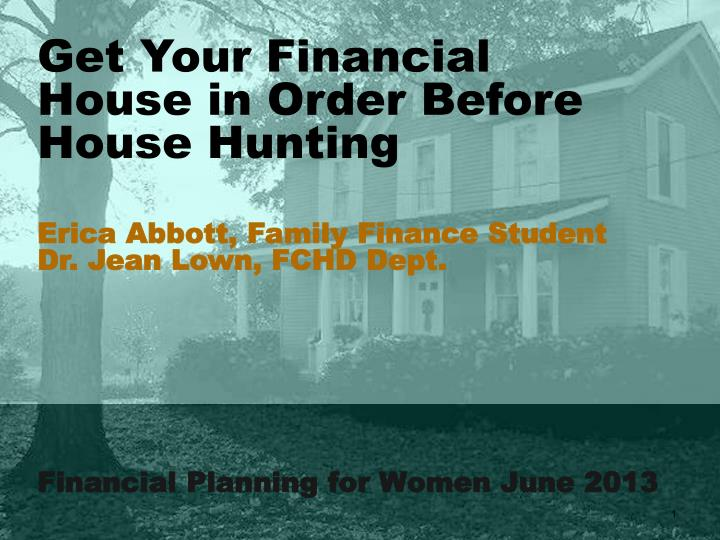 Financial planning for women june 2013