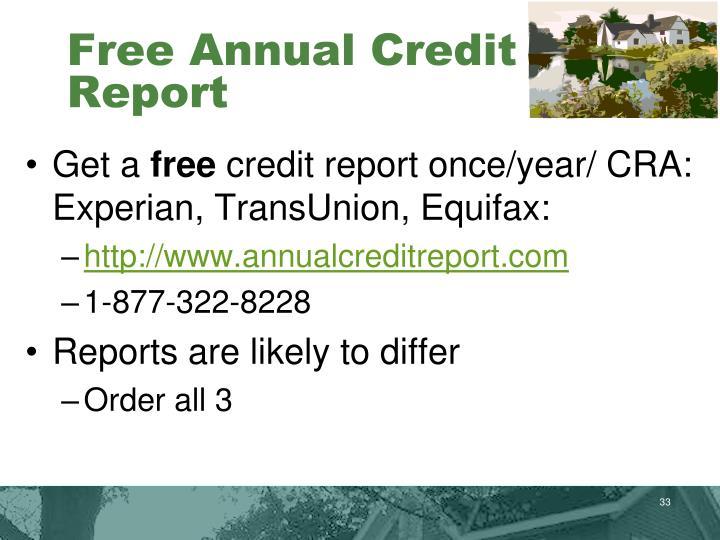 Free Annual