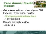 free annual credit report