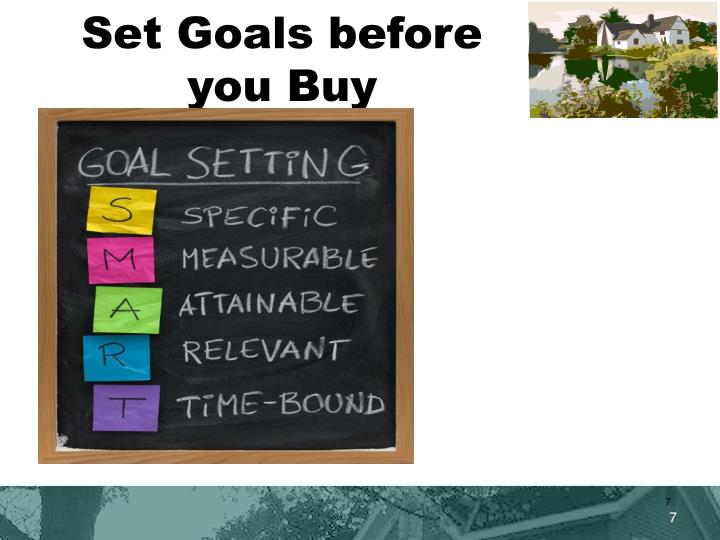 Set Goals before you Buy