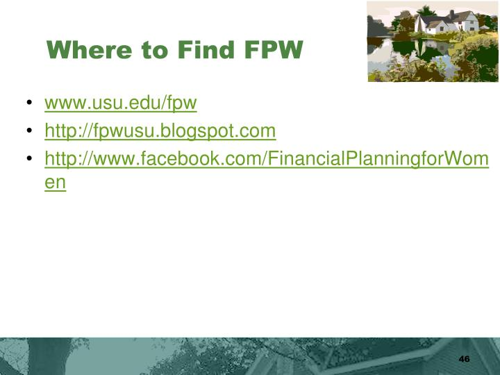 Where to Find FPW