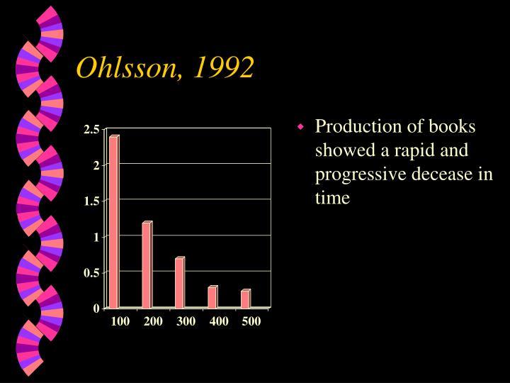 Ohlsson, 1992