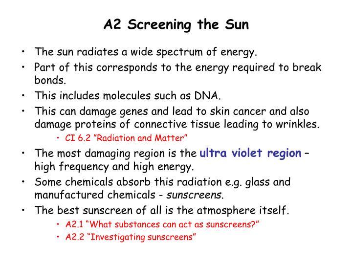 A2 Screening the Sun