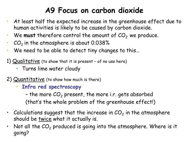 A9 Focus on carbon dioxide