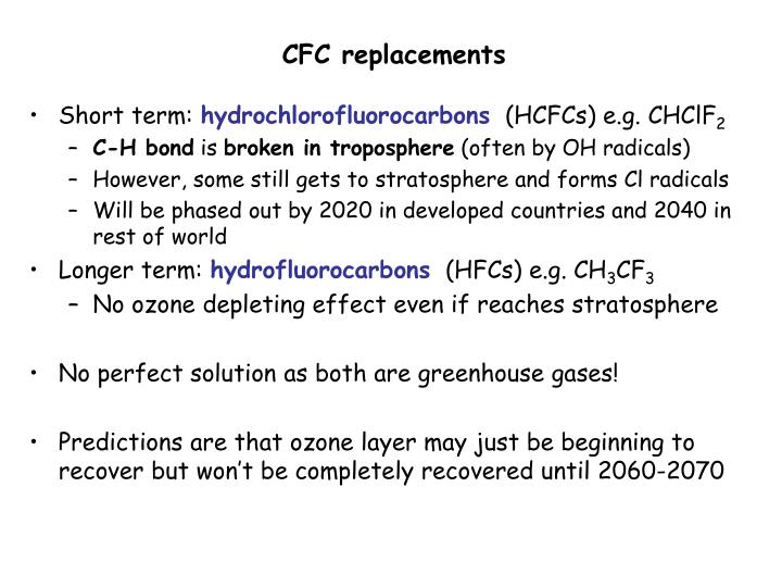 CFC replacements