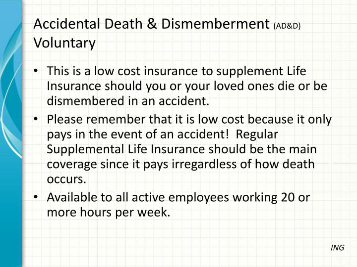 Accidental Death & Dismemberment