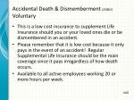 accidental death dismemberment ad d voluntary