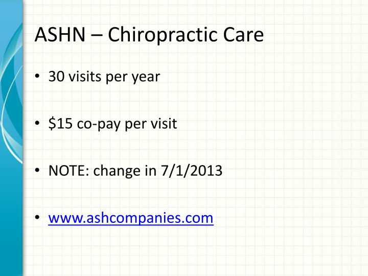 ASHN – Chiropractic Care
