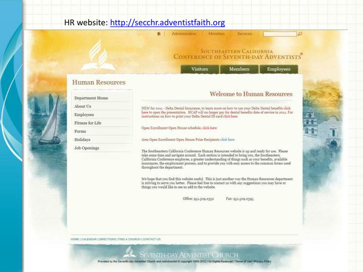 HR website: