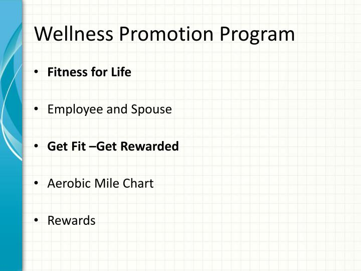 Wellness Promotion Program