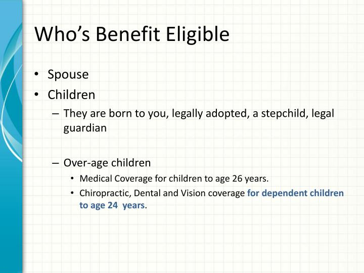 Who's Benefit Eligible