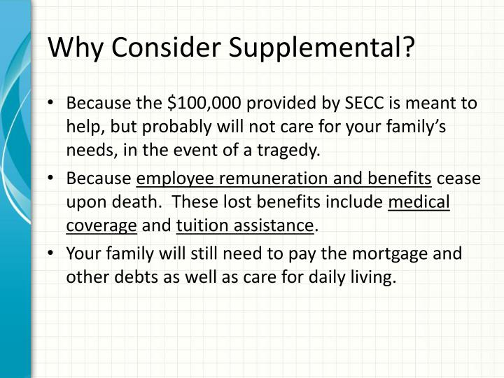 Why Consider Supplemental?