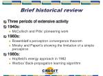 brief historical review