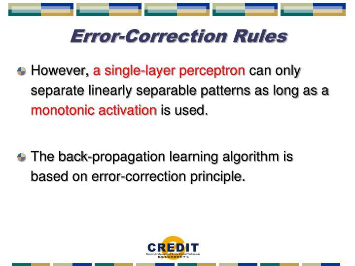 Error-Correction Rules