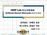 ismp lab artificial neural networks