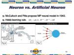 neuron vs artificial neuron