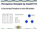 perceptron example by hand 1 11