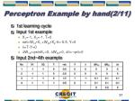 perceptron example by hand 2 11