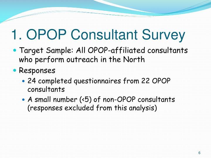 1. OPOP Consultant Survey