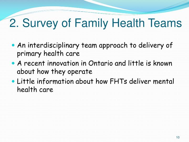 2. Survey of Family Health Teams
