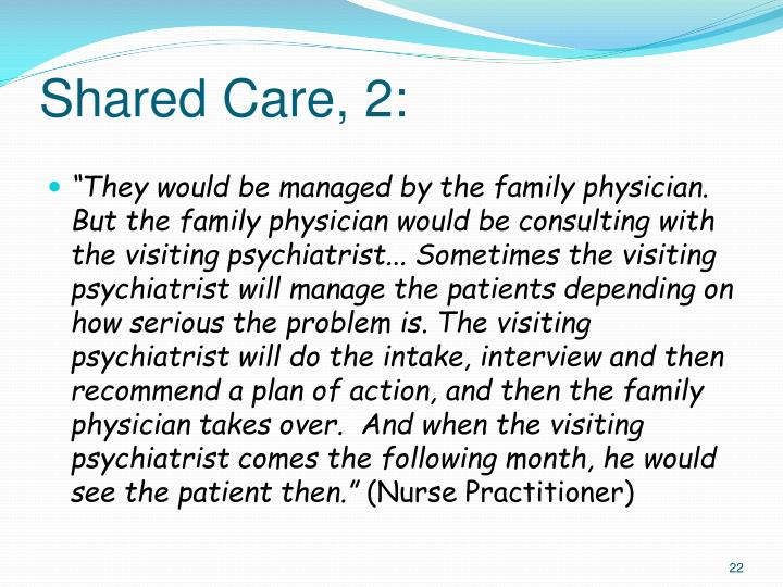 Shared Care, 2: