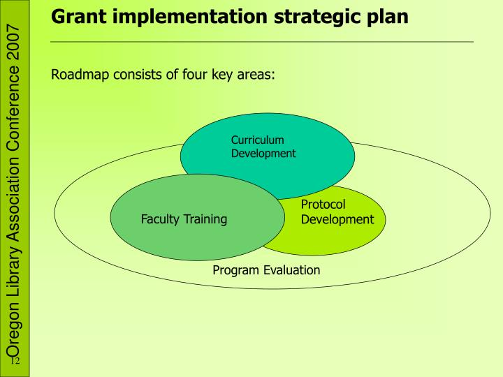 Grant implementation strategic plan