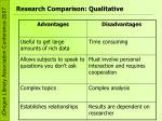 research comparison qualitative