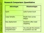 research comparison quantitative