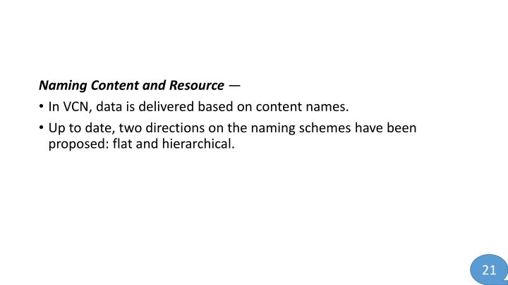 Naming Content and Resource
