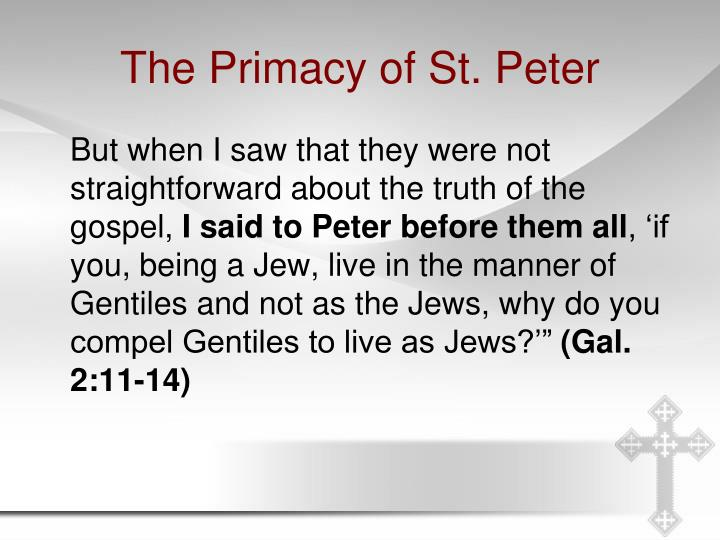 The Primacy of St. Peter
