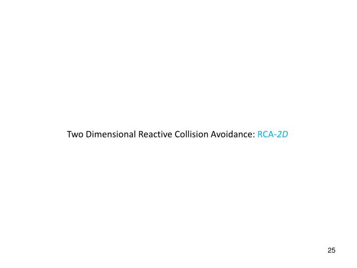 Two Dimensional Reactive Collision