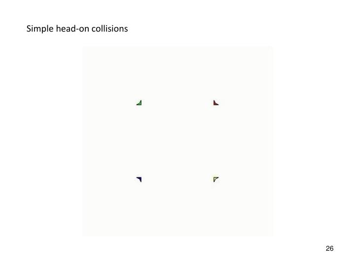 Simple head-on collisions