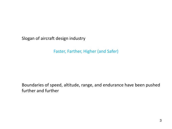 Slogan of aircraft design industry