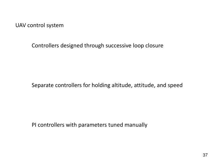 UAV control system