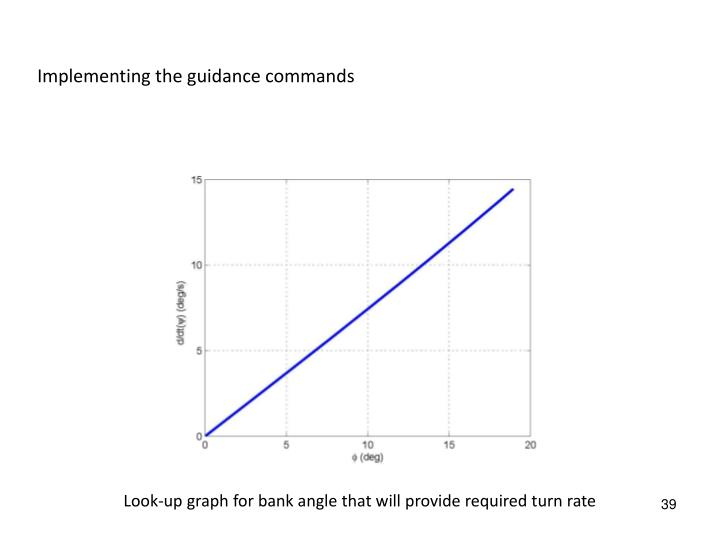 Implementing the guidance commands