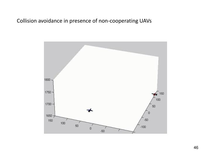 Collision avoidance in presence of non-cooperating UAVs