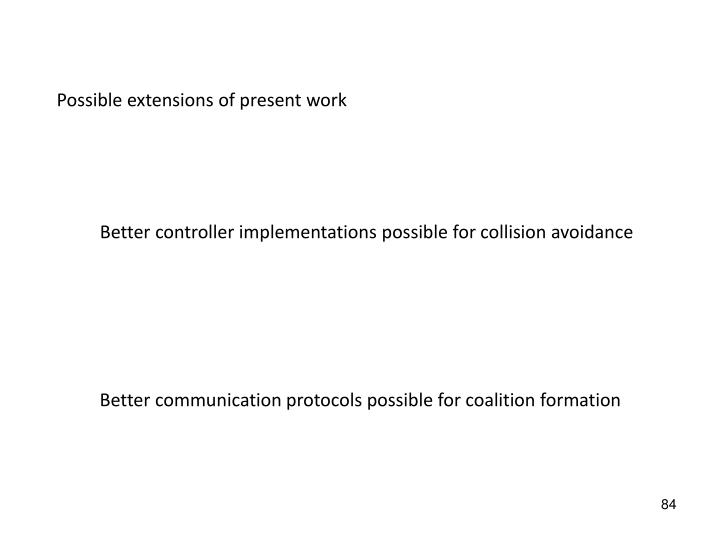 Possible extensions of present work