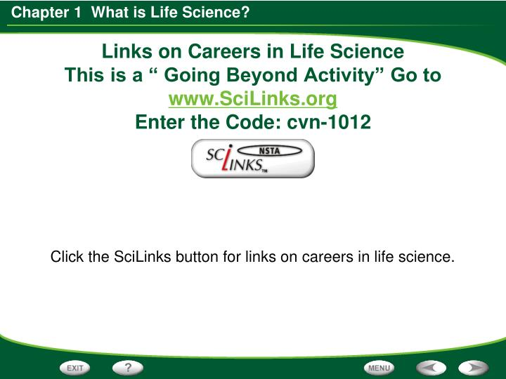 Links on Careers in Life Science