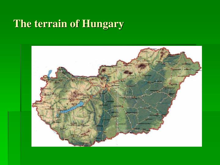 The terrain of Hungary
