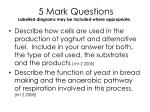 5 mark questions labelled diagrams may be included where appropriate