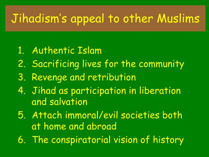 Jihadism's appeal to other Muslims