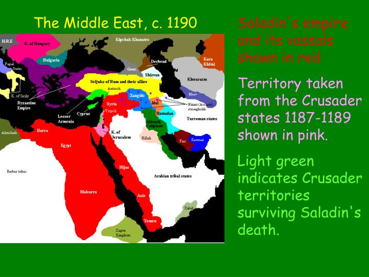 The Middle East, c. 1190