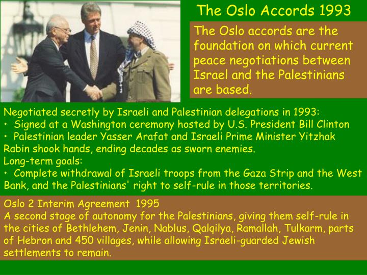 The Oslo Accords 1993