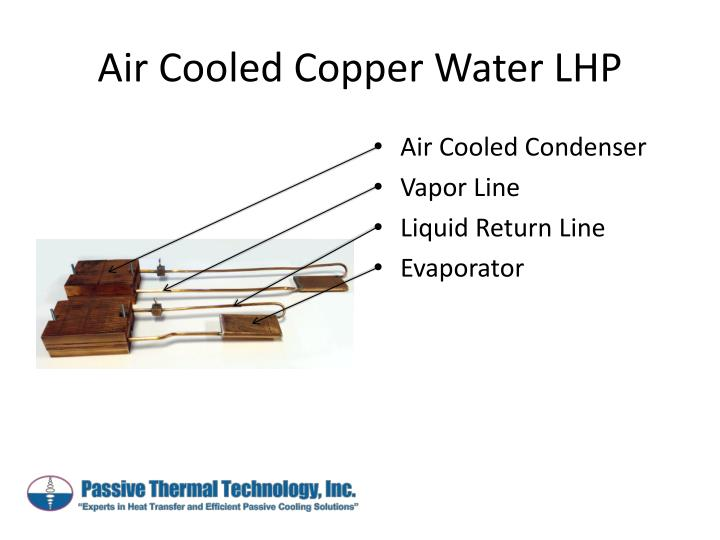 Air cooled copper water lhp