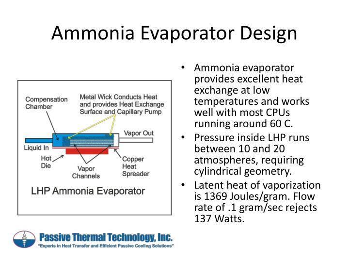Ammonia Evaporator Design