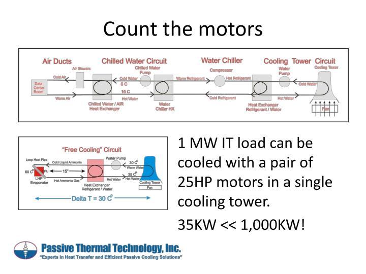 Count the motors