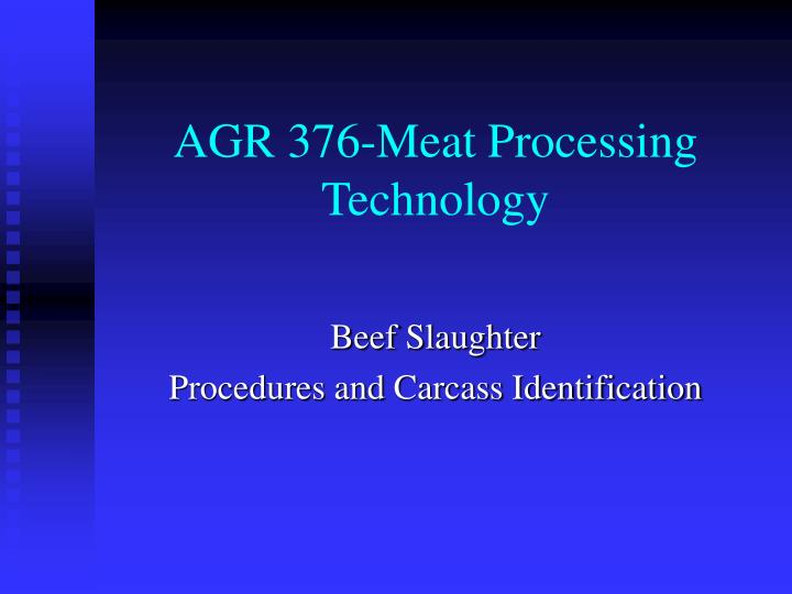 agr 376 meat processing technology